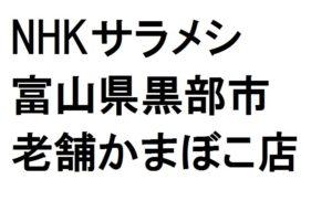 サラメシで紹介された富山の老舗かまぼこ「生地蒲鉾」特徴と購入方法