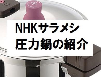 NHKサラメシの圧力鍋のメーカー名と購入先・価格・商品
