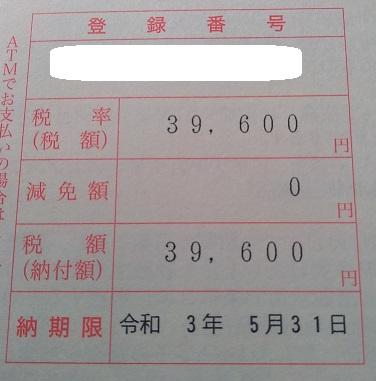 自動車税をクレジットカードで分割払い体験記