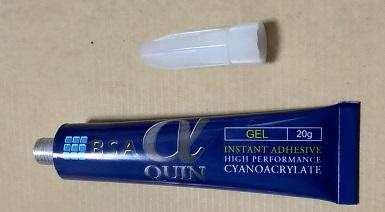 歯の専用接着剤:歯科技工用瞬間接着剤 αクイン